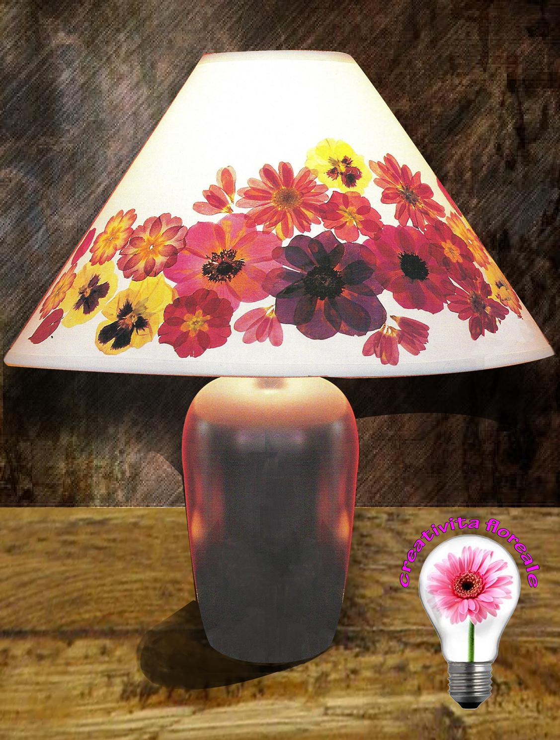 Lampade Fiori: Lampade con fiori come montare una piantana tiffany.